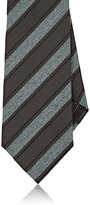 Brioni Men's Basket-Weave & Repp Necktie-GREEN