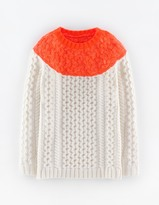 Boden Longer Line Cable Sweater