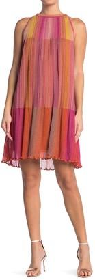 M Missoni Metallic Ribbed Knit Tank Dress
