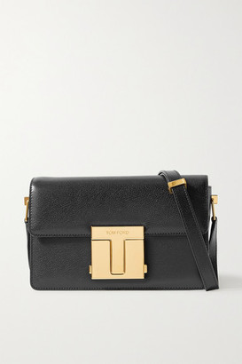 Tom Ford 001 Medium Leather Shoulder Bag - Black