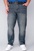 Yours Clothing LAMBRETTA Blue Wash Jeans