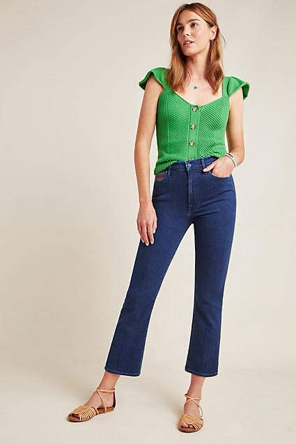 Mother The Hustler High-Rise Bootcut Jeans