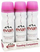 Evian Brumisateur Facial Spray Traveling Companions - 3 x 1.7 oz.