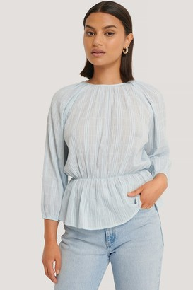 NA-KD Marked Waist Structured Blouse