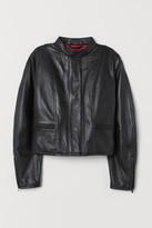 H&M Short Leather Jacket - Black