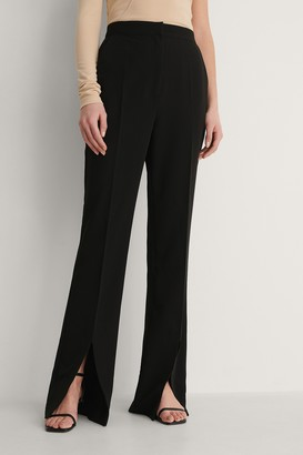 Curated Styles Front Slit Trousers