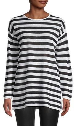 Eileen Fisher Striped Organic Linen Cotton Tunic