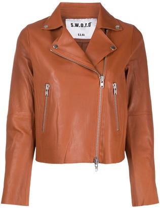 S.W.O.R.D 6.6.44 Zipped Biker Jacket