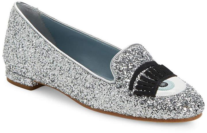 Chiara Ferragni Glitter Slippers