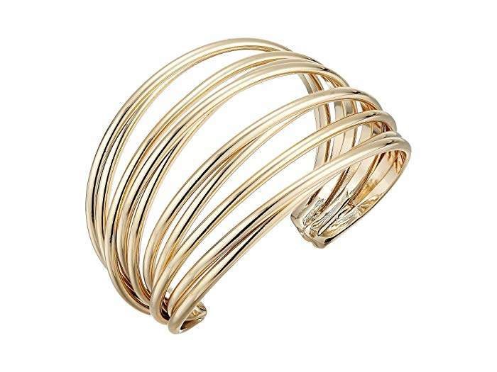 89d63518848 Wide Gold Cuff Bracelet - ShopStyle