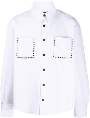 DUOltd Stud Detailing Button-Down Shirt