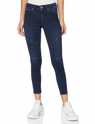 Only Women's ONLROYAL Life REG SK Biker ANK BB PIM Jeans
