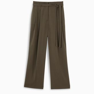 LE 17 SEPTEMBRE Khaki belted trousers