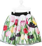 Love Made Love tulip print pleated skirt