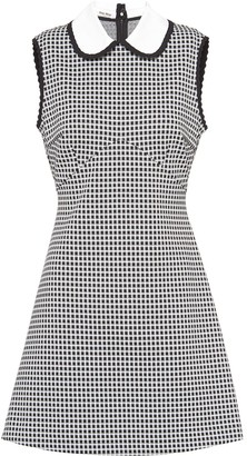 Miu Miu Flared Gingham Mini-Dress