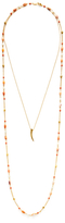 Chan Luu Salmon Mix Horn Layer Necklace