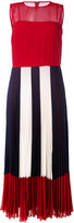 RED Valentino sheer pleated dress - women - Polyester - 40