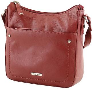 Joan Weisz JWQ104 Idyll Zip Top Red Crossbody Bag