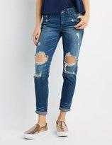 Charlotte Russe Destroyed Skinny Boyfriend Jeans