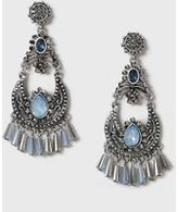 Dorothy Perkins Womens Bead Chandalier Earrings- Blue