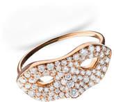 Monica Rich Kosann 18K Rose Gold Mask Ring, Size 6