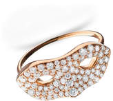 "Monica Rich Kosann Unmasked"" Diamond Rose Gold Ring, Size 6"