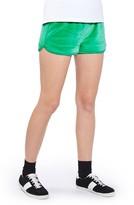Topshop Women's Velour Runner Shorts