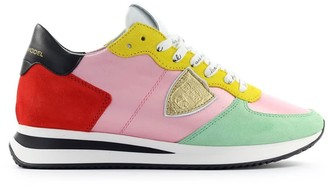 Philippe Model Trpx Satin Pop Pink Red Sneaker