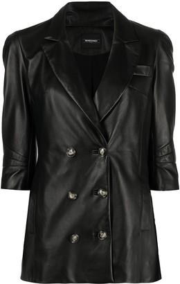 Simonetta Ravizza Double-Breasted Leather Jacket