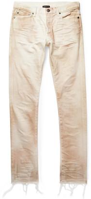 John Elliott The Cast 2 Skinny-Fit Distressed Stretch-Denim Jeans