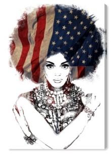 "Oliver Gal New American Woman Canvas Art - 24"" x 16"" x 1.5"""