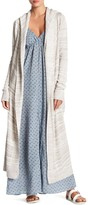 Love Stitch Long Sleeve Hooded Duster Cardigan