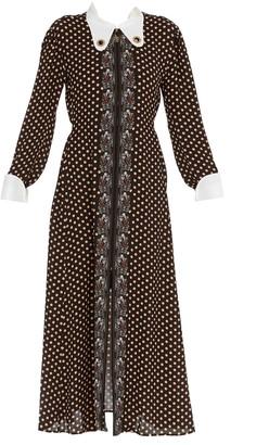 Chloé Retro Polka-Dot Printed Dress