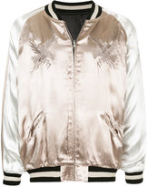 Monkey Time Embroidered Satin Jacket