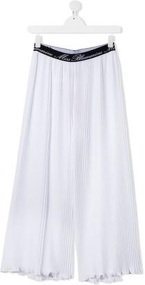 Miss Blumarine TEEN pleated wide leg trousers