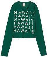 PINK University Of Hawaii Long Sleeve Campus Cutout Tee