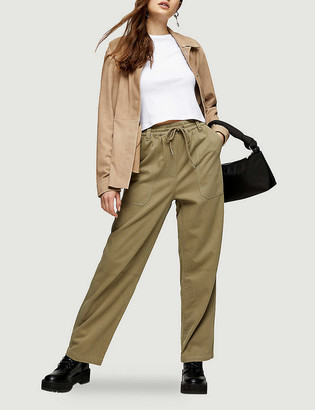 Topshop Cory tapered high-rise woven trousers