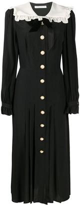 Alessandra Rich Ruffle Collar Dress