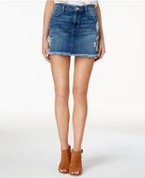 GUESS Stella Cotton Ripped Denim Mini Skirt