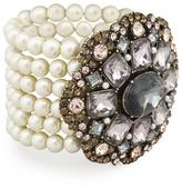 Sequin Bold Pearl Medallion Bracelet