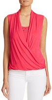 Milano Stud Neck Twist Front Top