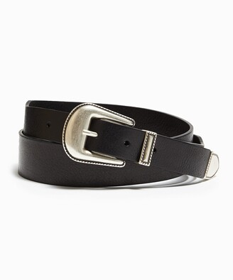 Andersons Leather Western Belt in Black