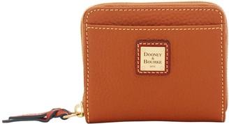 Dooney & Bourke Pebble Grain Small Zip Around Wallet
