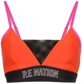 P.E Nation centre mark sports bra