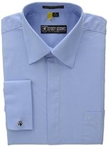 Stacy Adams Men's Long-Sleeve Standard-Fit Dress Shirt with Hidden Buttons