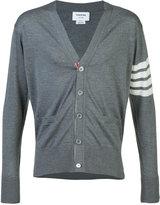 Thom Browne striped detail cardigan - men - Wool - 4