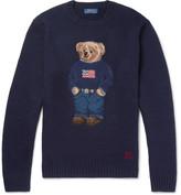 Polo Ralph Lauren Bear Intarsia Wool-Blend Sweater