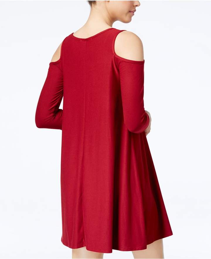 Planet Gold Juniors' Cold-Shoulder Dress