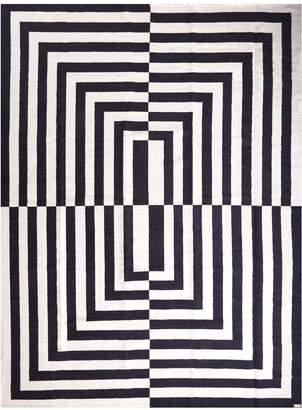 Jonathan Adler Black/White Canaan Reversible Peruvian Flat Weave Rug