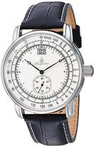 Burgmeister Men's Quartz Metal and Leather Casual Watch, Color:Black (Model: BM333-182)